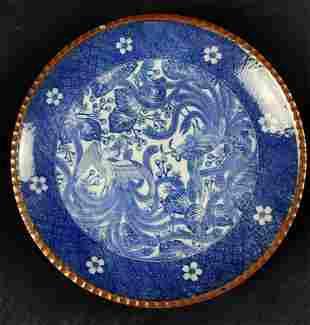 Antique Meiji Japanese Igezara Phoenix Design Plate