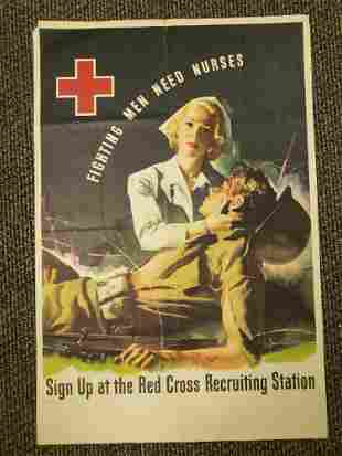 Fighting Men Need Nurses Sign Up at the Red Cross