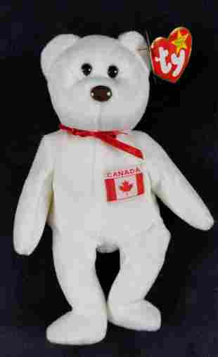 Retired Beanie Baby Canada Maple The Bear