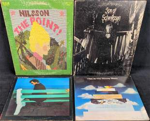 LP Vinyl Records Boz Scaggs Harry Nilsson Moody Blues