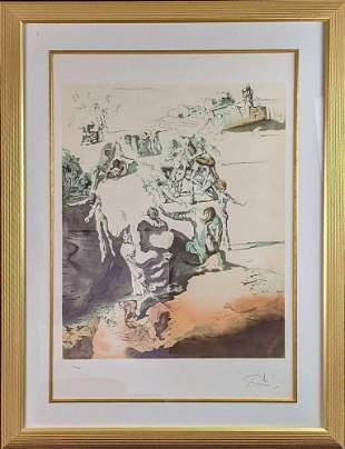 """Framed Salvador Dali """"Grand Paranoia"""" Color Lithograph"""