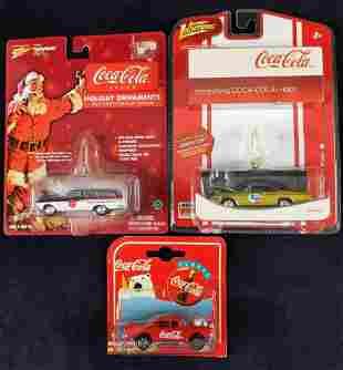 Coca Cola Die Cast Toy Car Christmas Ornaments