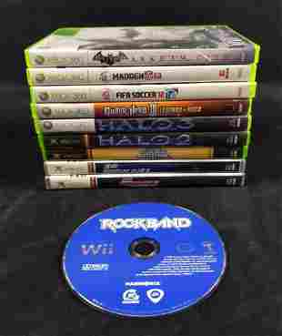 10 XBOX And XBOX 360 And Nintendo Wi Games