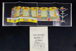 Rare Disney Pixar Toy Story Novelty Stand Booklet