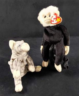 Beanie Babies Mooch And Silver Error