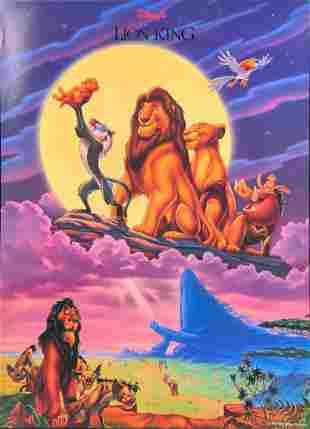 Disneys Lion King Animated Movie Poster