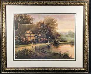 Framed Coming Home Print by Christa Kieffer Cottage