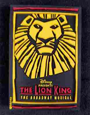 The Lion King The Broadway Musical Rubber LSR Magnet
