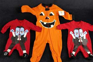 Baby Halloween Pajamas And Play Clothes Lot Of 3