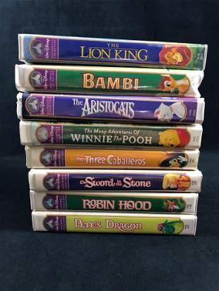 Lot Of 8 Walt Disney Masterpiece Collection VHS Bambi