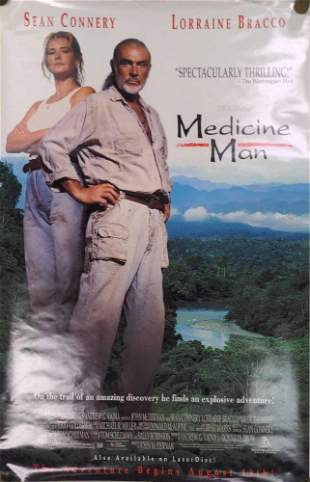 Medicine Man Original Video Store Poster Sean Connery