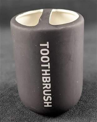 Mainstays Soft Touch Ceramic Toothbrush Holder Black