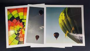 Large Colorful Hot Air Balloon Photos Lot Of Four
