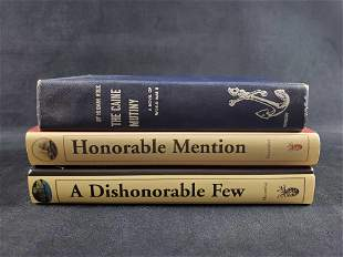 Lot of 3 U.S War Books Wouk and Signed Macomber