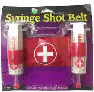 NOS - Halloween Accessory - Syringe Shot Belt - For