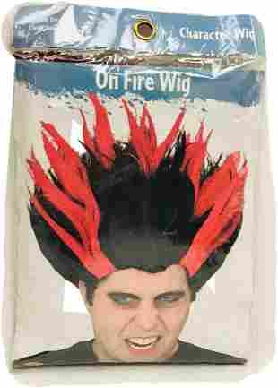 NOS - Halloween Wig - On Fire - Heat Miser - Adult Wig