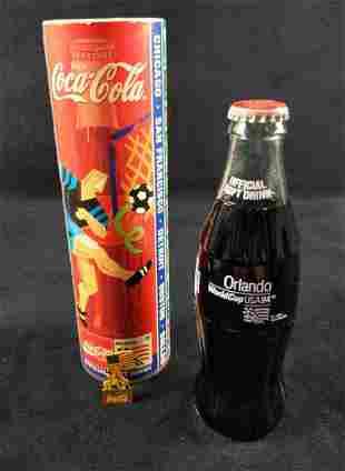 Coca Cola World Cup USA 94 Coke Bottle W Pin Bank