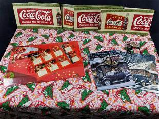 Coca Cola Wrapping Paper Gift Bags Banners Cloth