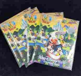 Walt Disney World Coloring Book Lot Of Four