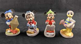 Vintage Disney Ceramic Figures Lot Of Four A