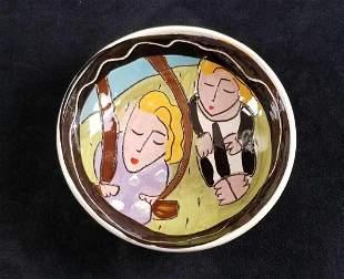 Colorful Swing Ceramic Bowl Art May