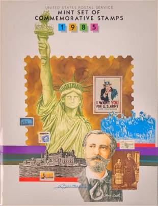 USPS Set Of Commemorative Stamps 1985 W Booklet