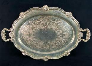 Antique Reed & Barton Silver Co. Ornate Oval Serving