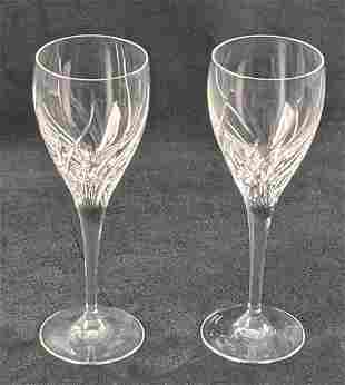 2 Retired Summer Breeze By Waterford Crystal Wine