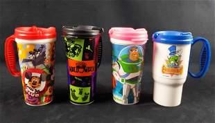 4 Disney World Resort Mugs Mickey Pixar Halloween