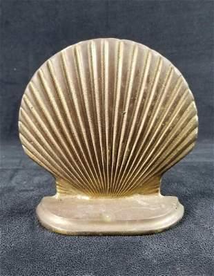 Brass Scallop Shell Bookend