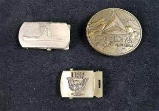 Military and Airline Metal Belt Buckels