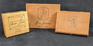 Vintage Wooden Cigar Boxes Evelio Leon Jimenes Thomas