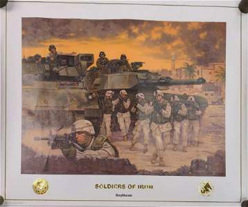 Rare Raytheon Soldiers Of Iron Poster