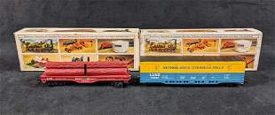 Vintage Bachmann HO Scale Freight Box Car And Flat Car