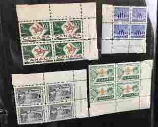 Large Collection Uncut Unhinged Canada Stamps B
