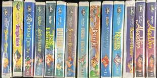14 Disney Animated Classic Animated Movies VHS