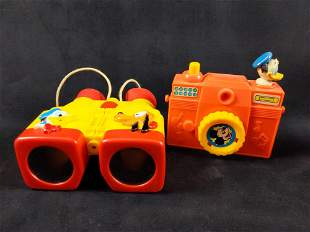 1980s Disney Toy Binoculars And Camara