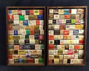 2 Framed Vintage Matchbooks Bars Hotels And More A
