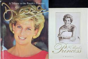 Two Handcover Books Tributes To Princess Diane LE