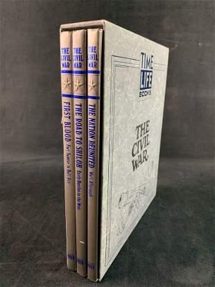 "Hardcover Time Life 3 Book set, ""The Civil War"