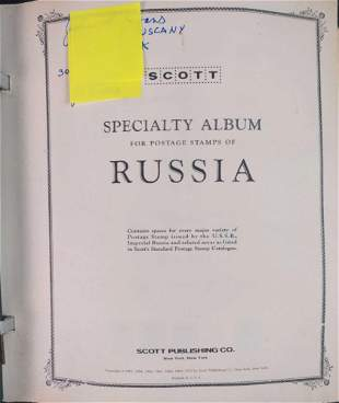 Soviet Republics Stamp Collection With Binder
