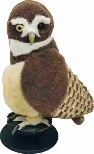 Halloween Decor, Plush Owl on Stand