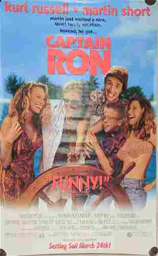 Original Video Store Captain Ron Movie Poster