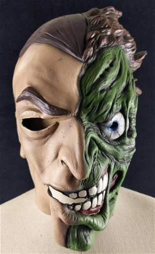2 Face Batman Mask Super Villain Halloween Costume