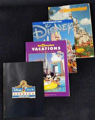 Vintage Disney World MGM Guides Lot Of Four