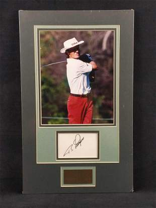 Bernhard Langer Autographed Card With Matted Photo