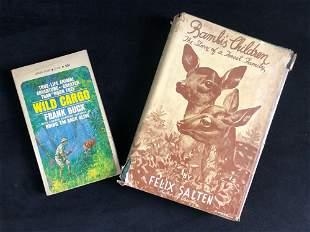 Vintage Books Bambi's Salten Wild Cargo Buck Lot Of 2