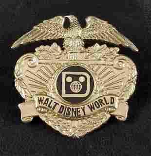 Vintage Rare Disney World Security Hat Badge A