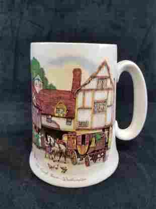 Vintage Old Coach House Woodhampton Beer Mug Stein