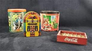 Assorted M&M Coca Cola Tin Lot